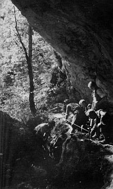 schuntershöhle - grabung 1938-39