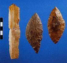 haldensteinhöhle - klinge und blattspitzen